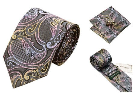 100% Silk Jacquard Mens Wedding Neckties1