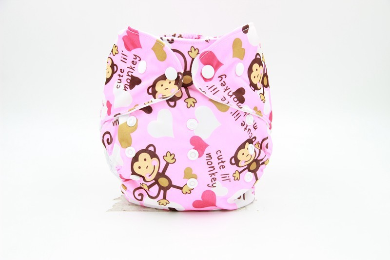 Adjustable Designer Reusable Baby Diapers
