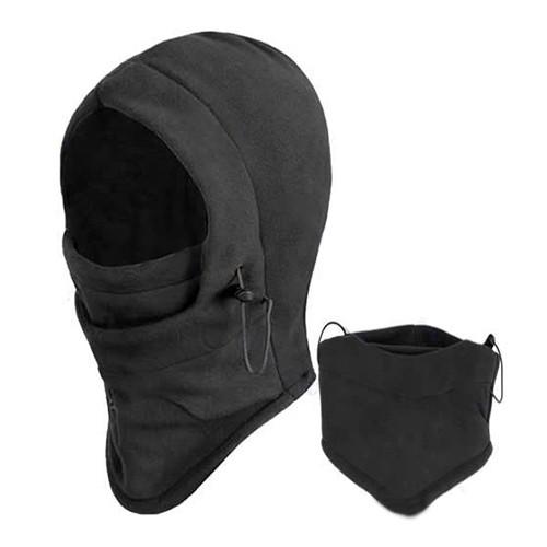 Black Face Mask Fleece Women Thermal