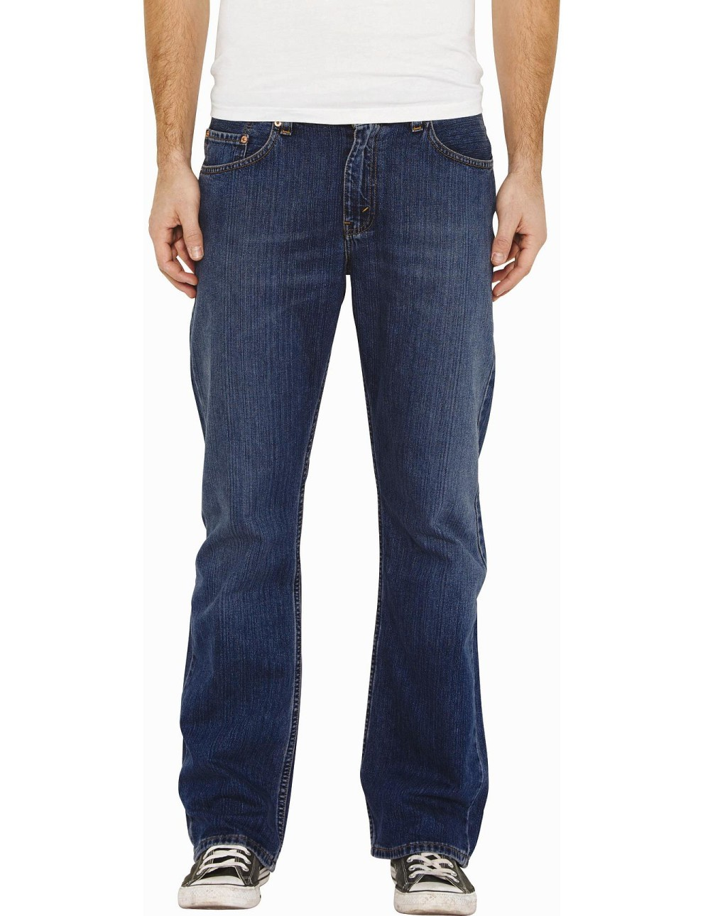 Blue Colored Bootcut Fit  Jeans