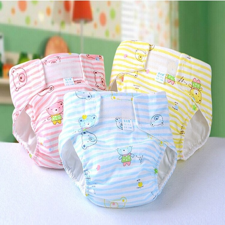 Cartoon Print Newborn Baby Diapers