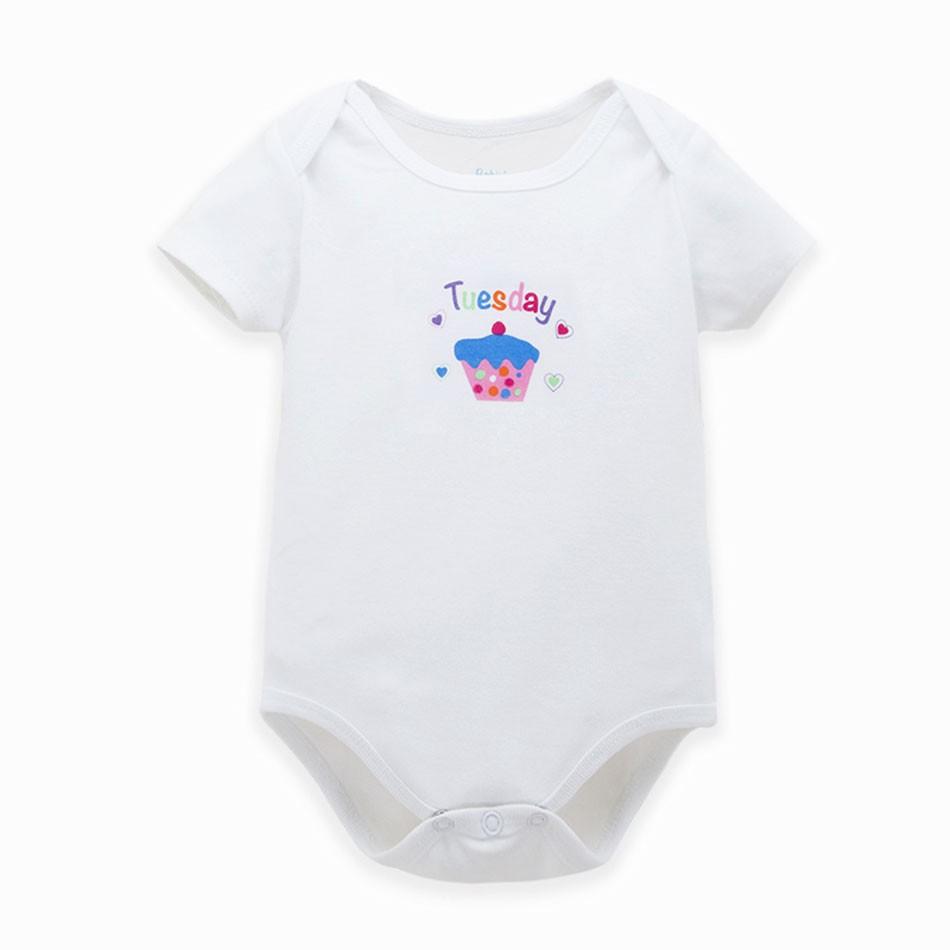 Cartoon Style Baby Short Sleeve Bodysuit
