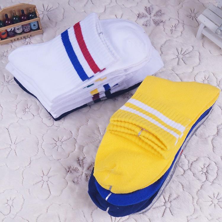 Classic Bar Stripe Mens Cotton Socks