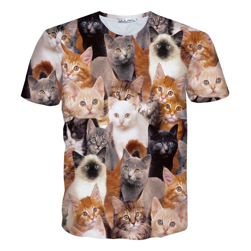 Colorful 3D Print Mens Plus Size T Shirt