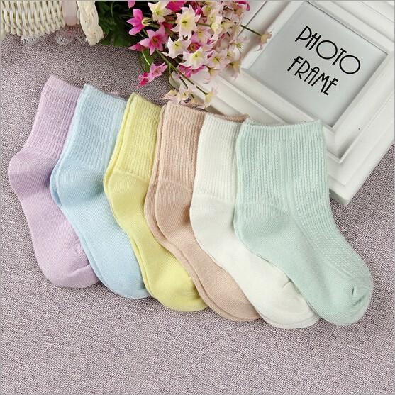 Cotton Newborn Baby Socks Set of 6 Pcs