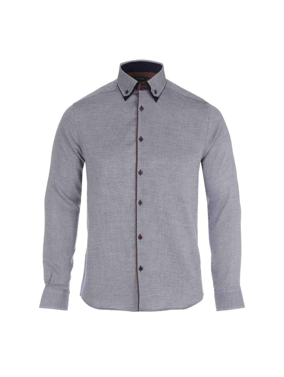 Dark Blue Double Collar Formal Shirt
