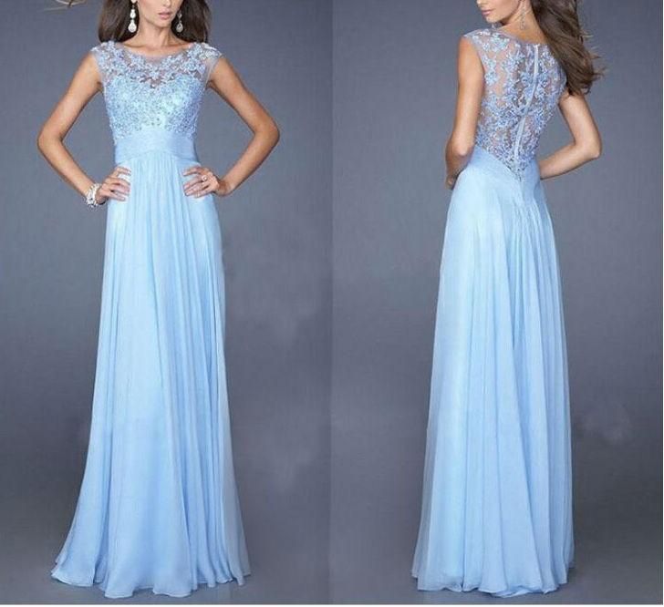 Elegant Chiffon Lace Women Party Dresses1