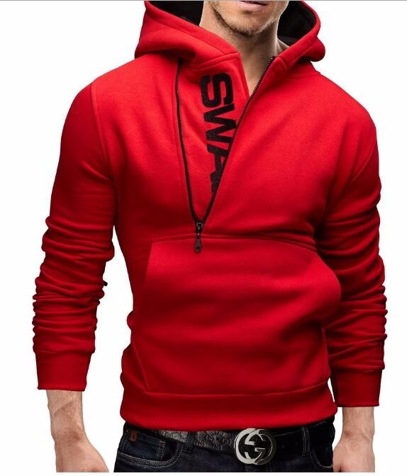 Fashion Solid Men Sweatshirt Plus Size