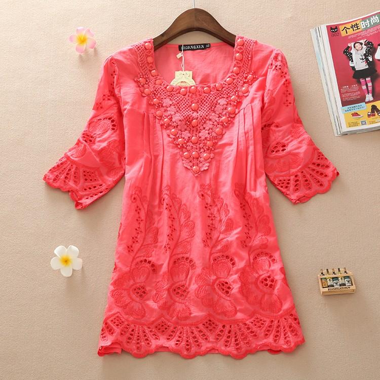Fuchsia Pink Cute Plus Size Women Top