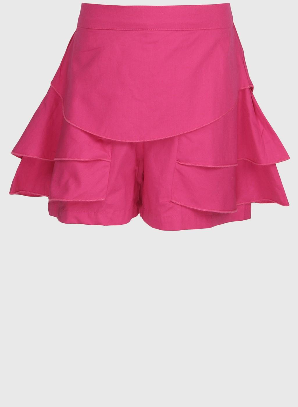 Fuchsia Pink Stylish Regular Fit Short