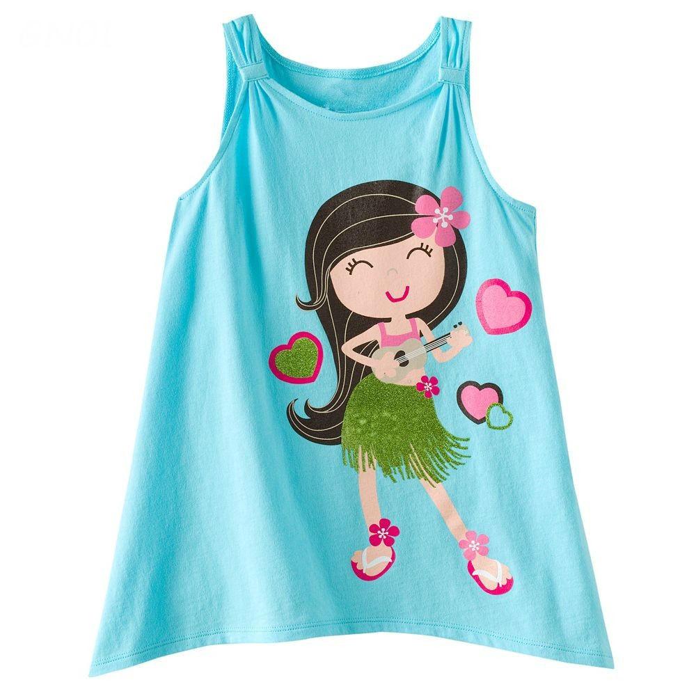 High Quality 100% Cotton Girl Printed Tshirts