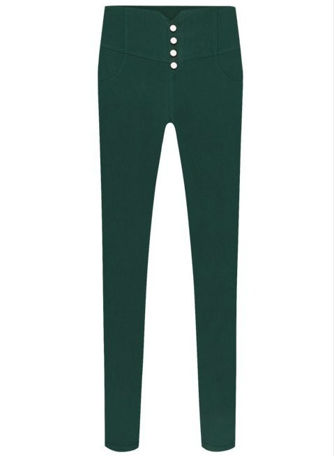 High Waist Slim Fit Women Business Trousers