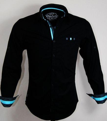Casual Cotton Black Shirt