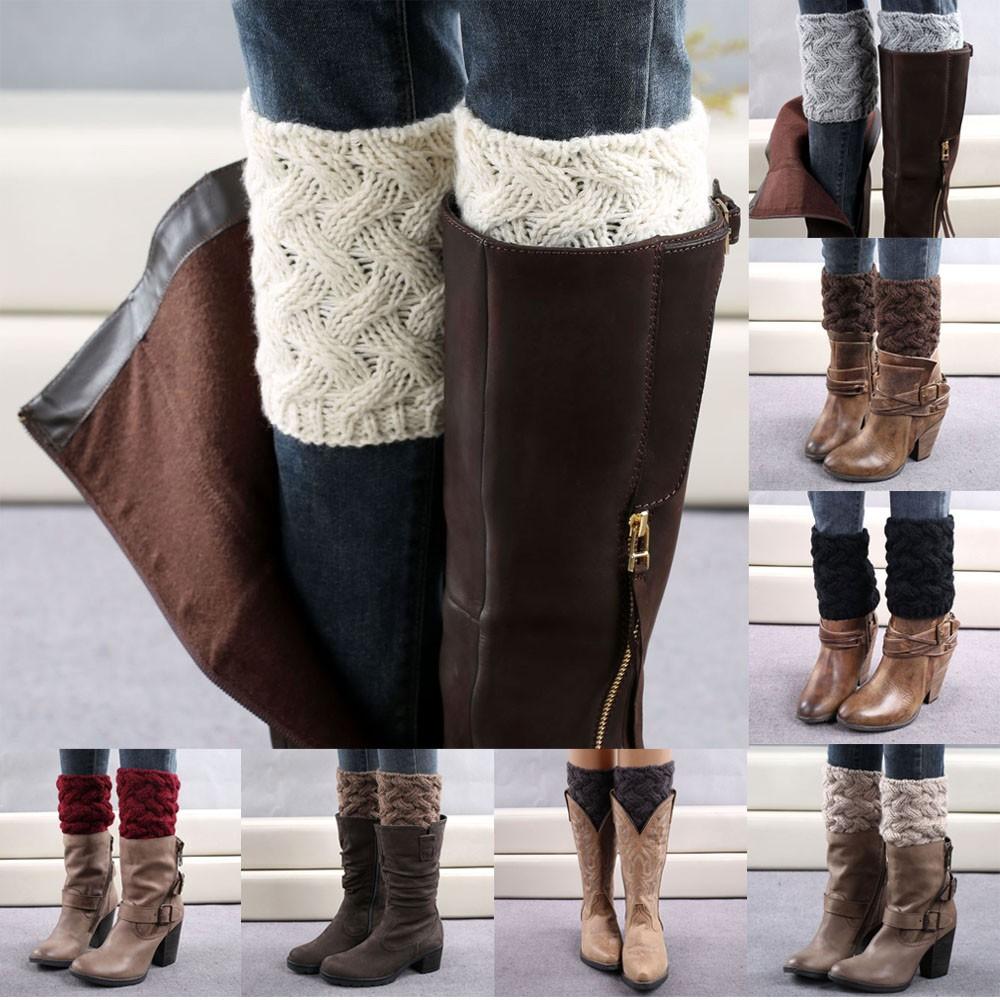 knitted Leg Warmers Women Boot Socks