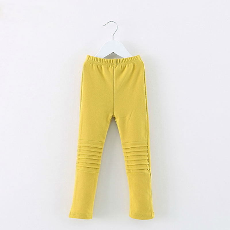 Latest Knee Pleated Long Skinny Girl Trousers