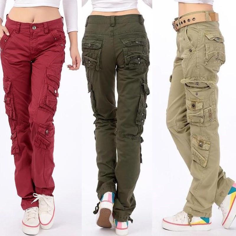 Latest More Pockets Women Cargos18