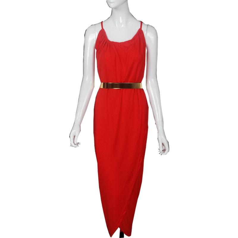 Latest Split Long Irregular Slim Women Dresses