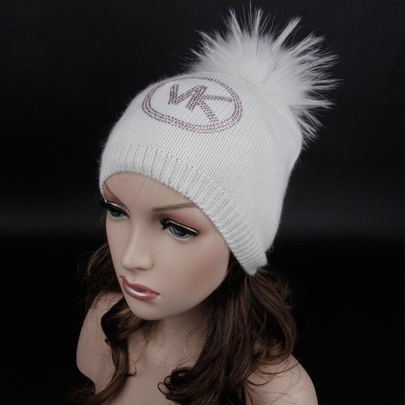 Latest Warm Winter Women Hat With Rhinestones