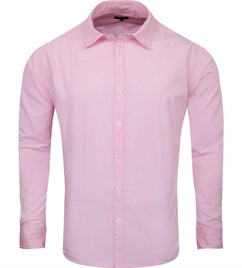 Light Pink Regular Fit Formal Cotton Shirt