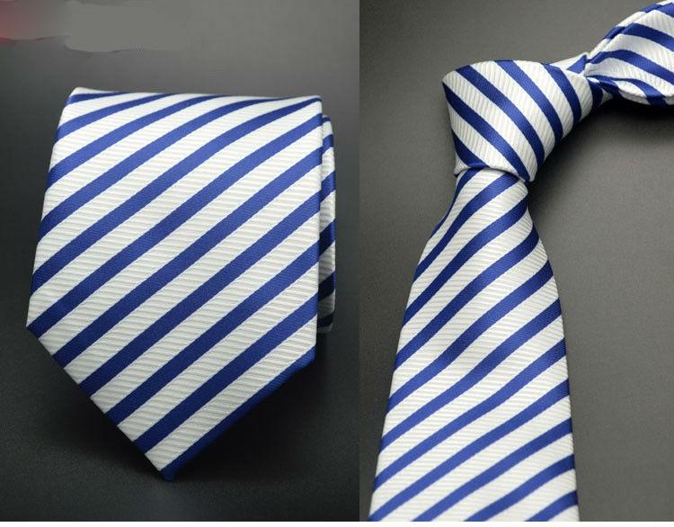 Luxury Formal Classic Men's Stripe Neck Ties7