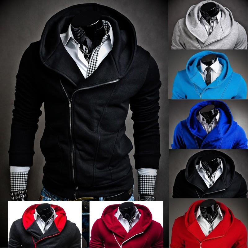 Men Hoodies Zipper Sweatshirt Jacket