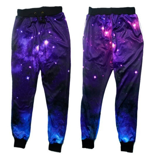 Mens 3D Graphic Casual Trousers