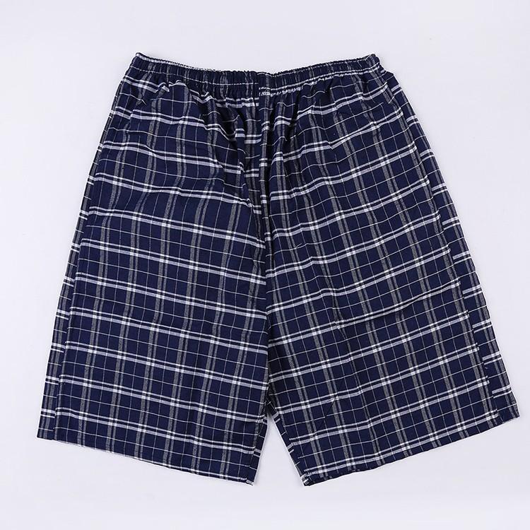 Mens Casual Plaid Loose Trunks Shorts