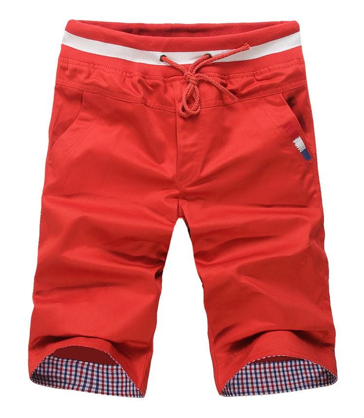 Mens Causal Loose Cotton Rope Shorts
