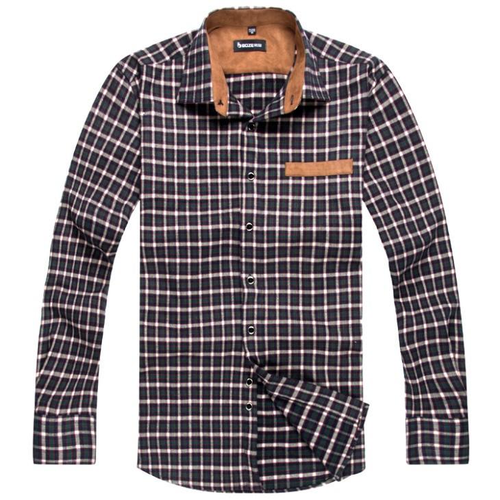 Mens Classic Plaid Casual Shirts