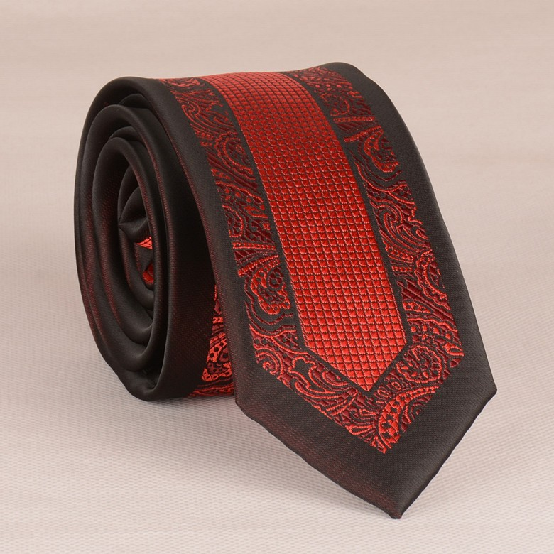 Mens Coffee With Red Design Casual Tie