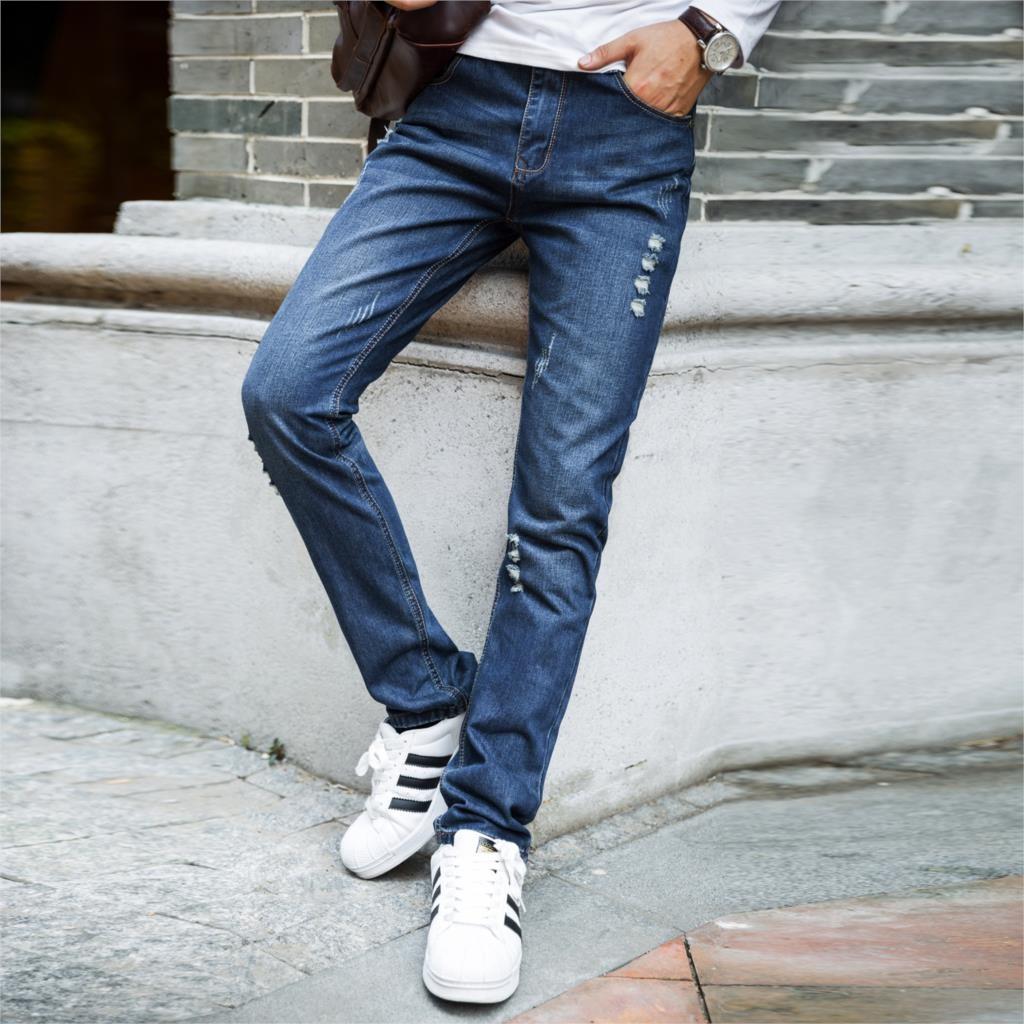 Mens Denim Slim Straight Jeans