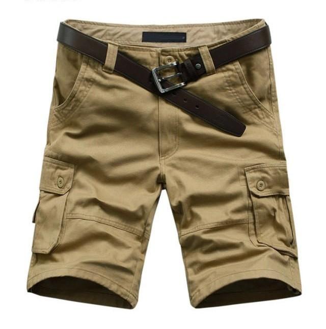 Mens Fashion Army Cargo Casual Shorts