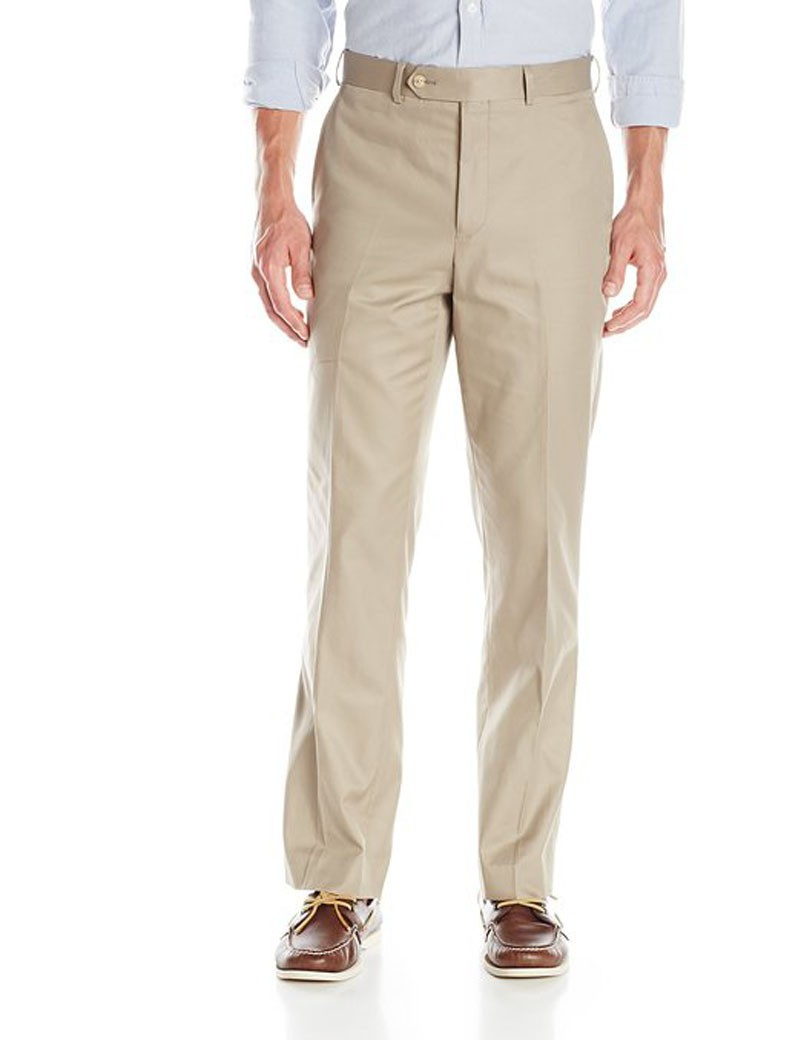Mens Flat-Front Formal Trousers