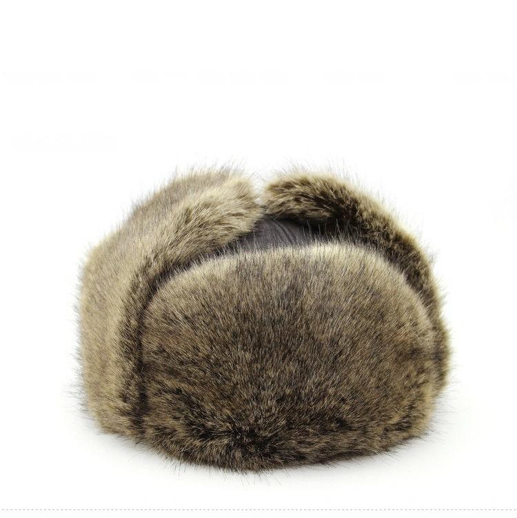 Mens Fur Leather Winter Warm Hats