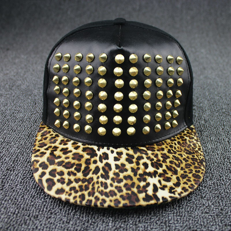 Mens Hip Hop Casual Studded Caps