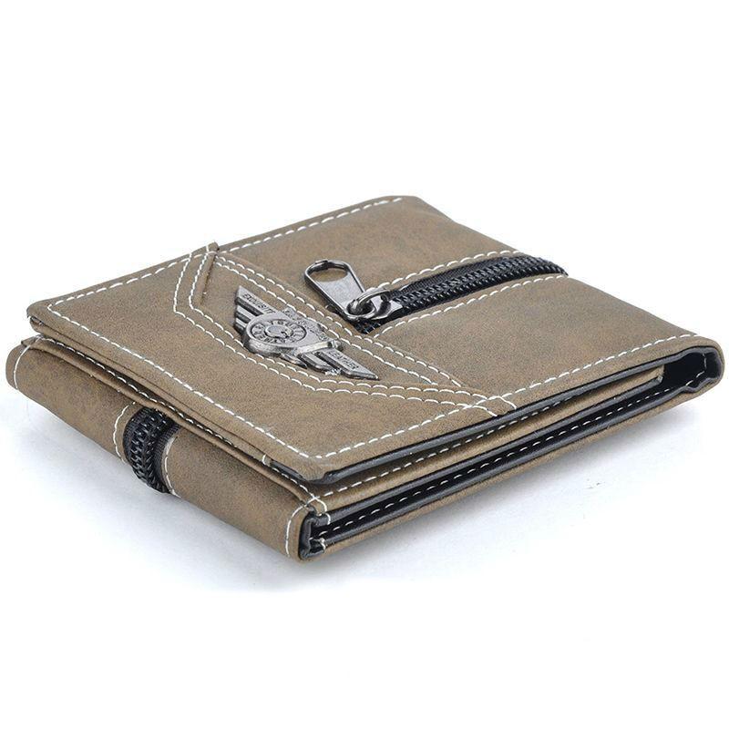 Mens New Casual Short Canvas Wallets