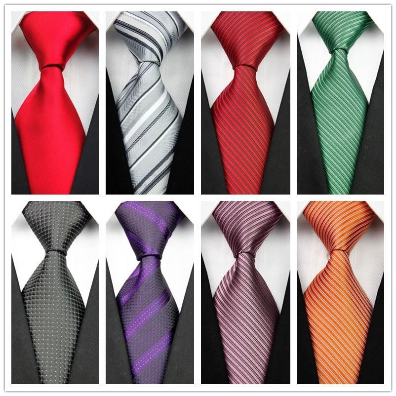 Mens New Classic Striped Plaid Neckties