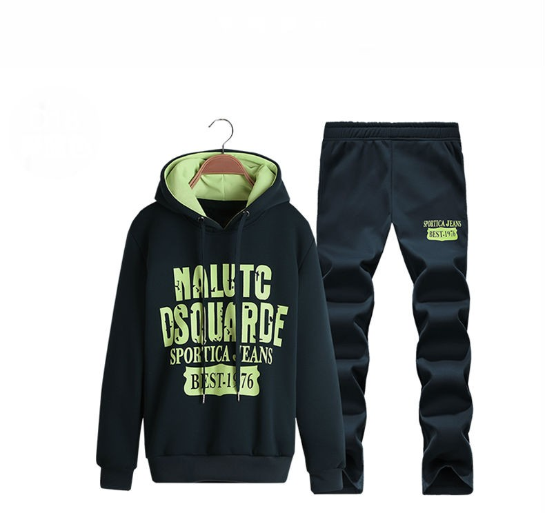 Mens Printed Cotton Zipper Hooded Tracksuits