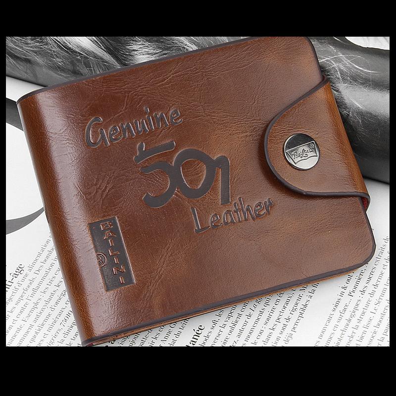 Men's Retro Purses PU Leather Vintage Men Wallet (