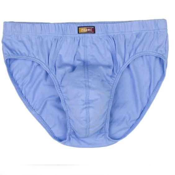 Mens Solid Underwear Cotton Briefs