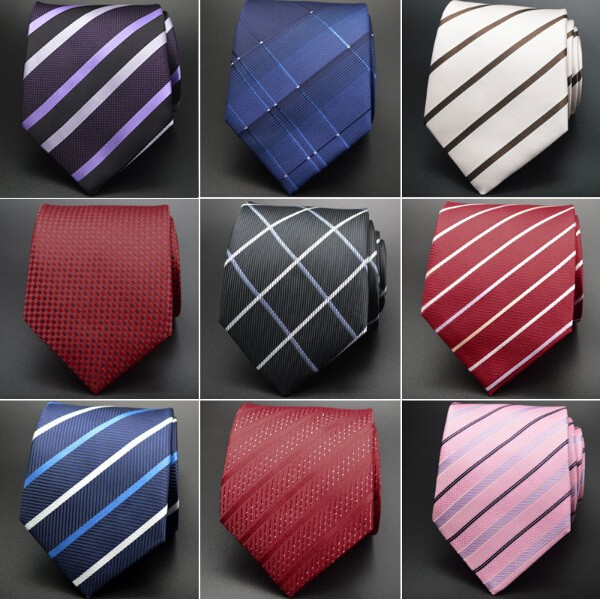 Mens Striped Silk Classic Neckties
