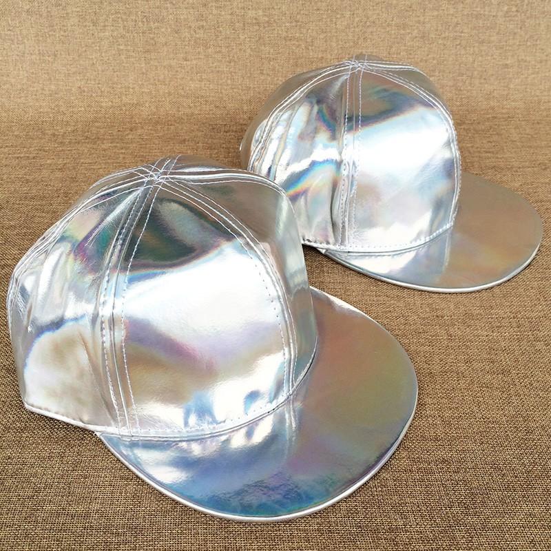 Modern Adjustable Silver Baseball Caps