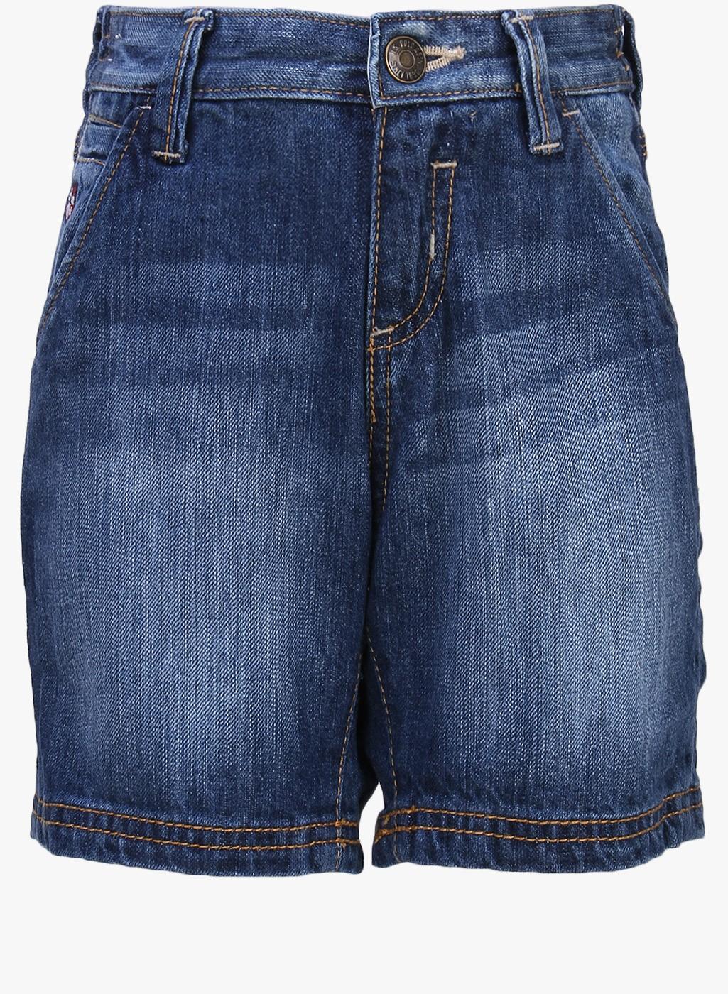 Modern Light Blue Cotton Short
