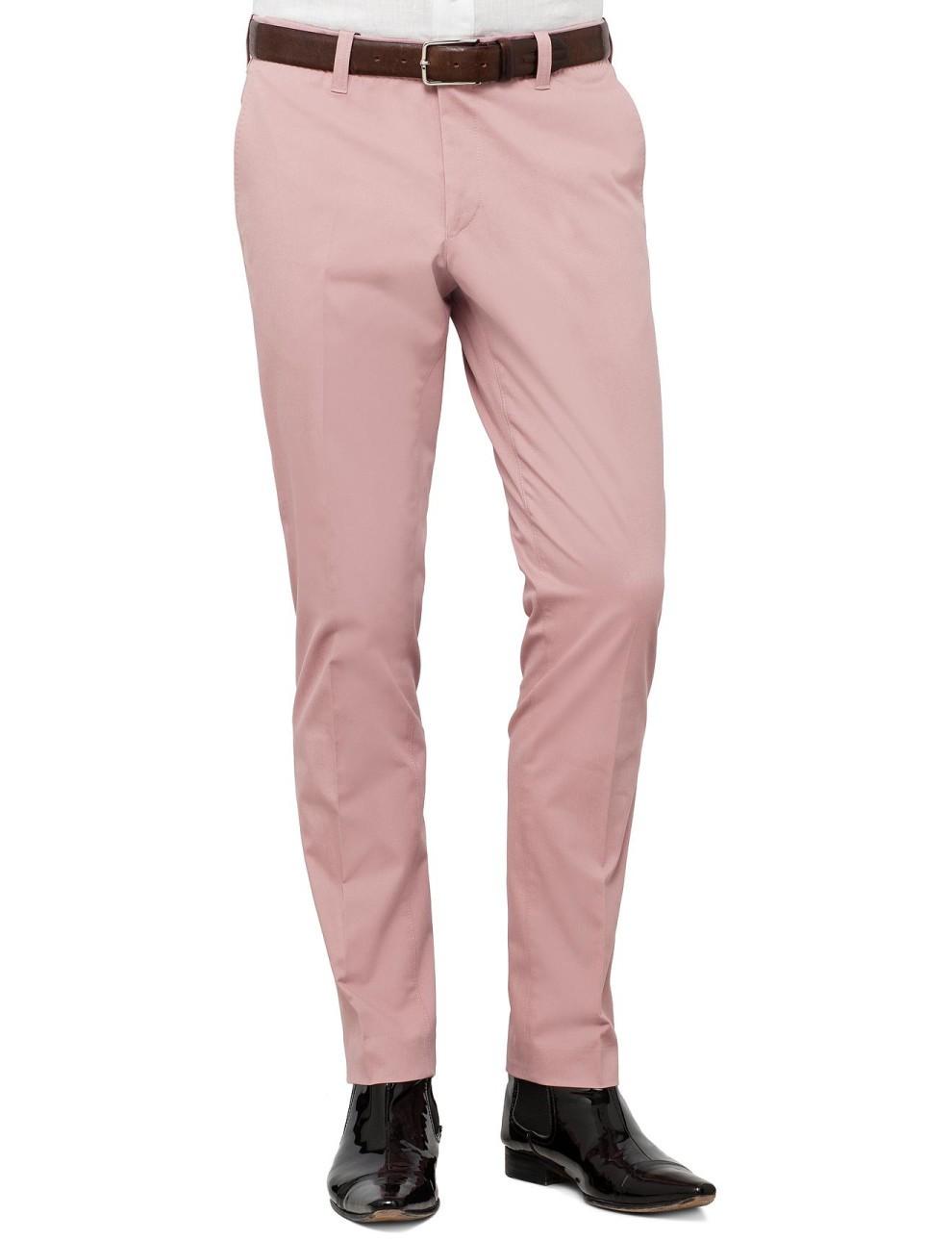 Modern Pink Hills Cotton Formal Trouser