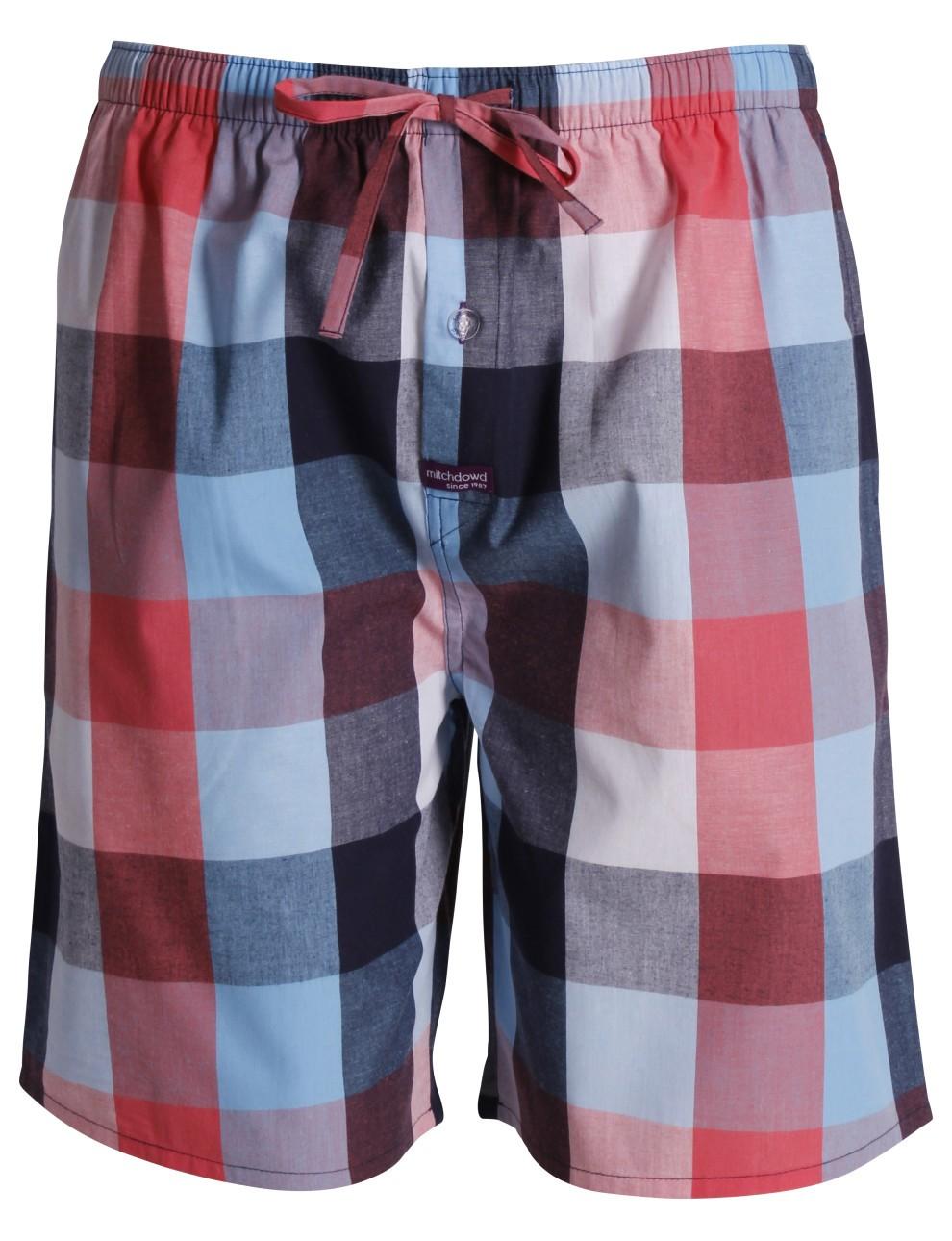 Multicolored checkered Sleep Short Nightwear