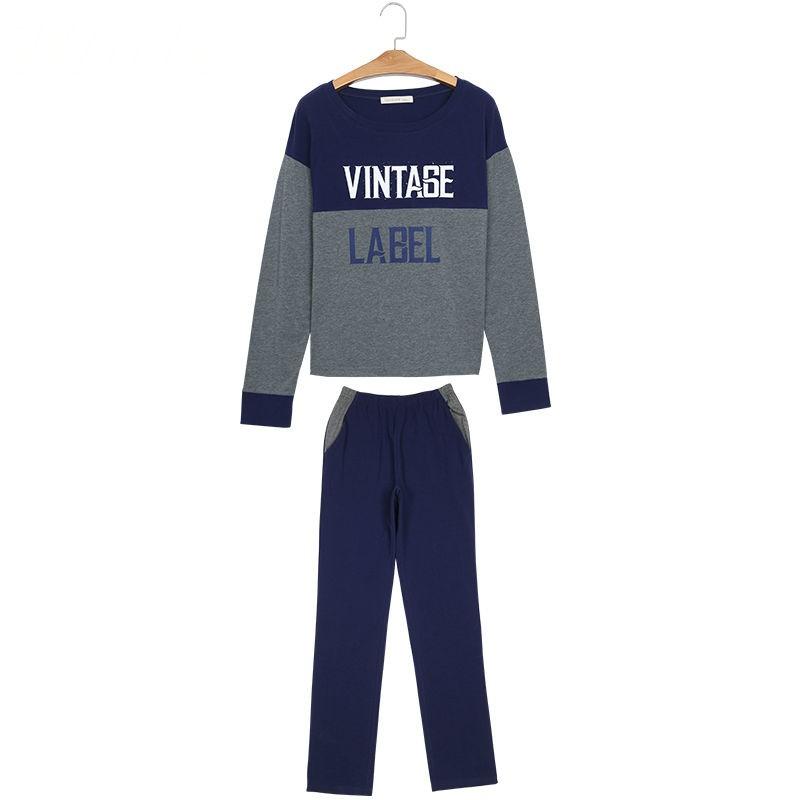 Navy Blue Mens Fashion Nightwear Set