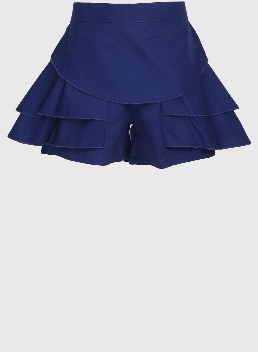 Navy Blue Stylish Regular Fit Cotton Short