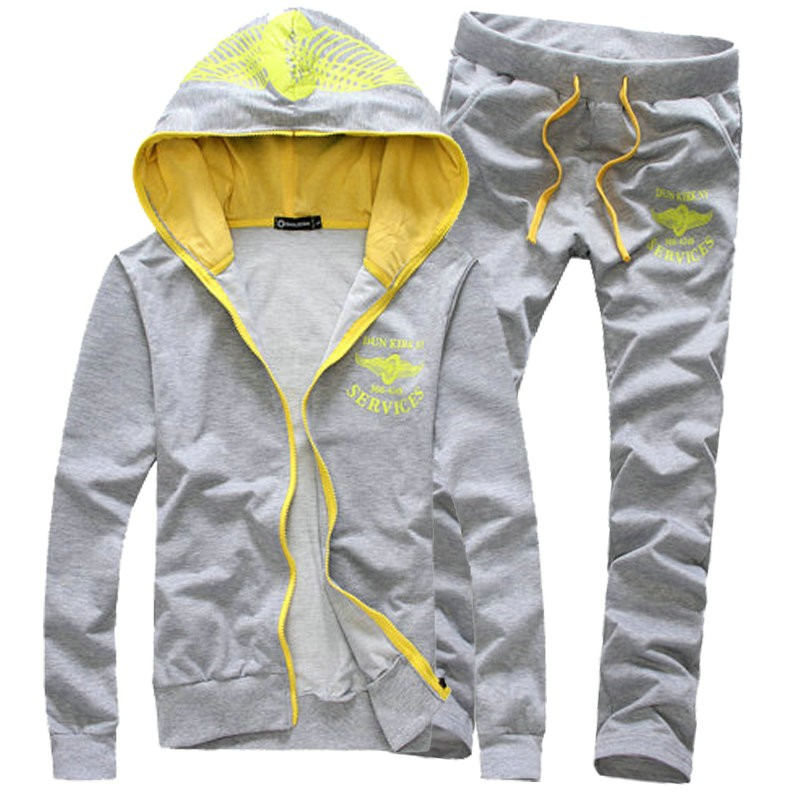 New Arrival Printed Slim Fit Mens Tracksuits