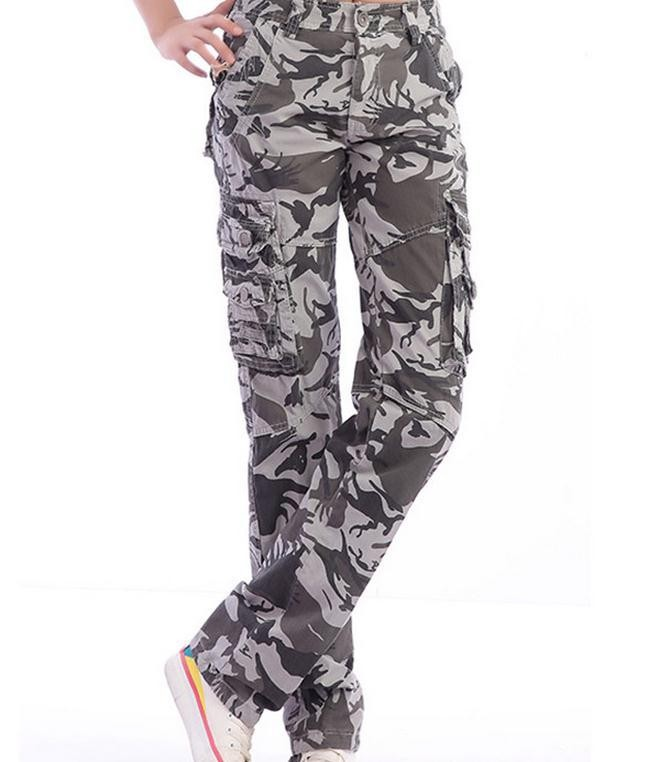 New Camouflage Military Straight Cargo Trousers
