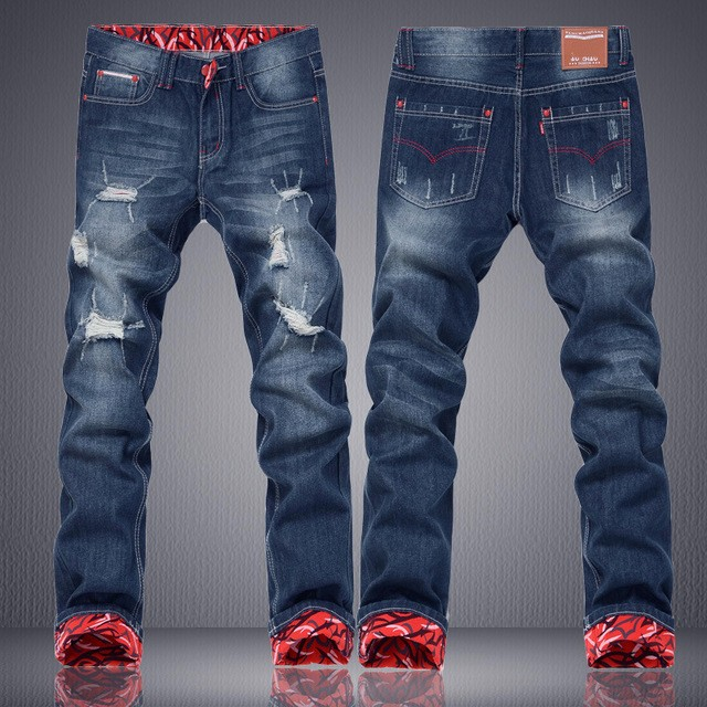 New Fashion Mens Cotton Straight Jeans
